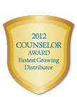 2012 Counselor Fastest-Growing Distributor